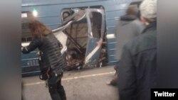 Một vụ nổ đã xảy ra trong hệ thống xe điện metro ở thành phố St. Petersburg, Nga, ngày 3/4/2017.