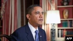 美国总统奥巴马发表每周例行讲话