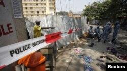 1일 코트디부아르 아비장의 압사사고 현장.