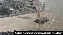 زلزلے سے تباہ ہونے والا ایک پل