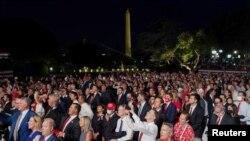 Участники Национального съезда Республиканской партии на Южной лужайке перед Белым домом