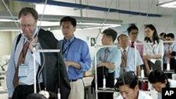 북한 개성공단을 방문한 외국 투자가들 (자료사진)
