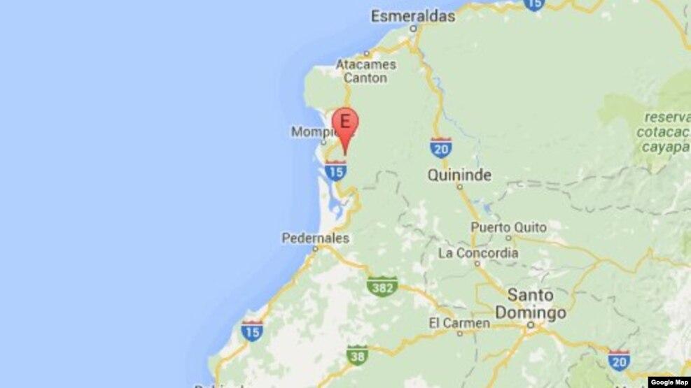 Nuevo Terremoto 6,7 sacude a Ecuador registrado a las 3 de la madrugada fue seguido de varias otras réplicas más suaves