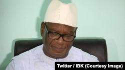 Le président Ibrahim Boubacar Keïta en campagne pour le second tour de la présidentielle, Mali, 9 août 2018. (Twitter/IBK)