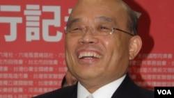 台湾民进党主席苏贞昌(美国之音申华拍摄)