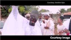 an image from the music video of IBI, a local rapper in Kaduna, in Northern Nigeria