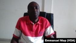 Pr Raymond Ebale, enseignant de l'histoire économique à l'université de Yaoundé 1, Cameroun, 21 février 2017. (VOA/Emmanuel Ntap)