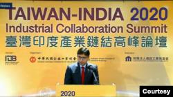 印度台北协会会长戴国澜(Gourangalal Das) 在台湾印度产业链结高峰论坛致词