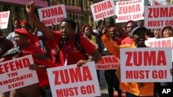 Masu goyon bayan Shugaba Zuma yayi Murabus