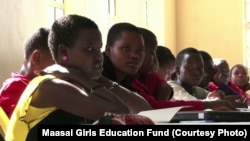 Maasai girls attend school in the Kajiado district of Kenya, thanks to the Maasai Girls Education Fund which provides free scholarships to young Maasai women and girls.