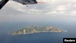 Ảnh chụp từ trên không nhóm đảo đang trong vòng tranh chấp Senkaku/Ðiếu Ngư.