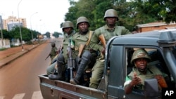 FILE - African Union troops, May 29, 2014.