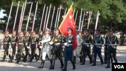解放军三军仪仗队展示强国梦(美国之音东方拍摄)