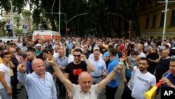 Albania Theater Protest