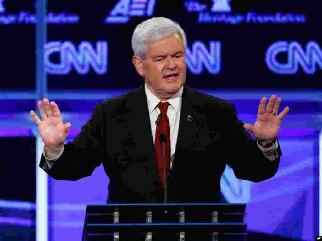"""Gingrich said he favored finding a way to legal status for illegal immigrants who have lived in the U.S. as peaceful law-abiding tax paying people. """"I don't see how the party that says it's the party of the family is going to adopt an immigration policy w"""