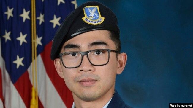 Hạ sĩ Không quân Hoa Kỳ Jason Khai Phan hy sinh khi thực hiện tuần tra an ninh định kỳ ở Kuwait hôm 12/9/2020. Ảnh chụp năm 2019. Photo by U.S. Air Force.