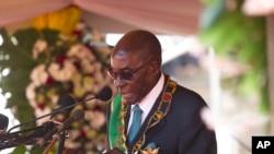 Mongameli Robert Mugabe.