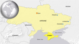 Locator map of Luhansk, Ukraine