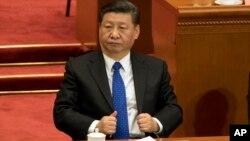 Chủ tịch Trung Quốc Tập Cận Bình trong phiên khai mạc cuộc họp Quốc hội ngày 3/3/2018.