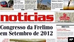 Noticias, Maputo, primeira pagina