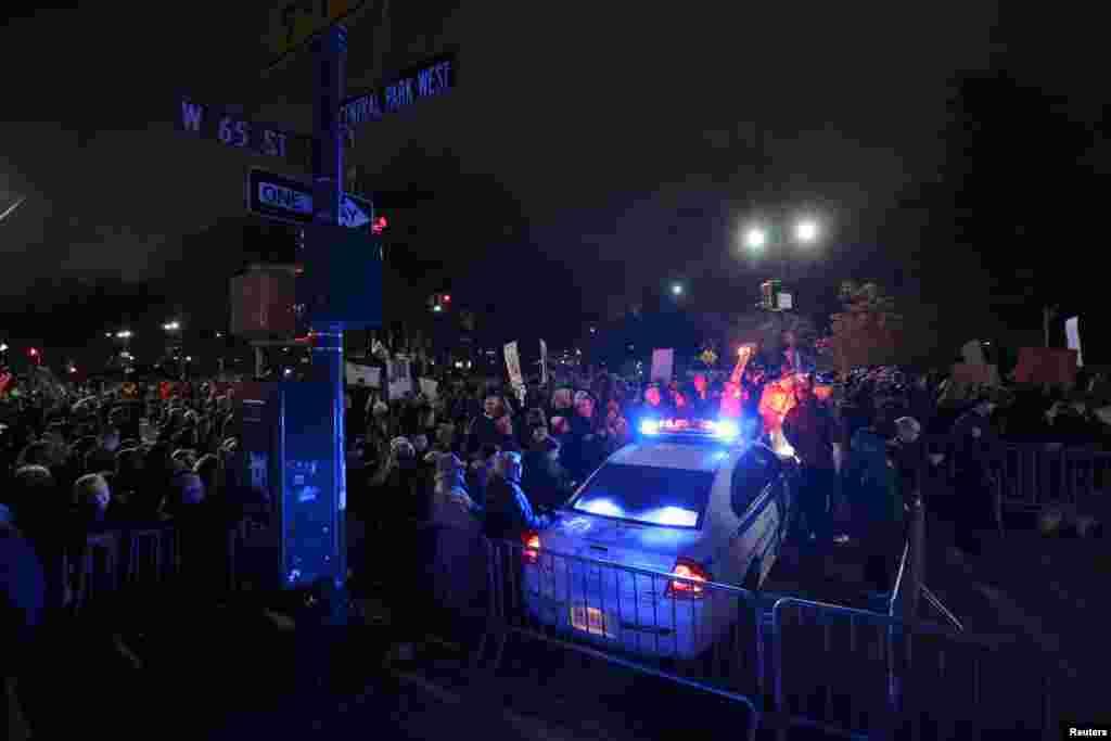 დონალდ ტრამპის საწინააღმდეგო აქცია ნიიუ-იორკში.