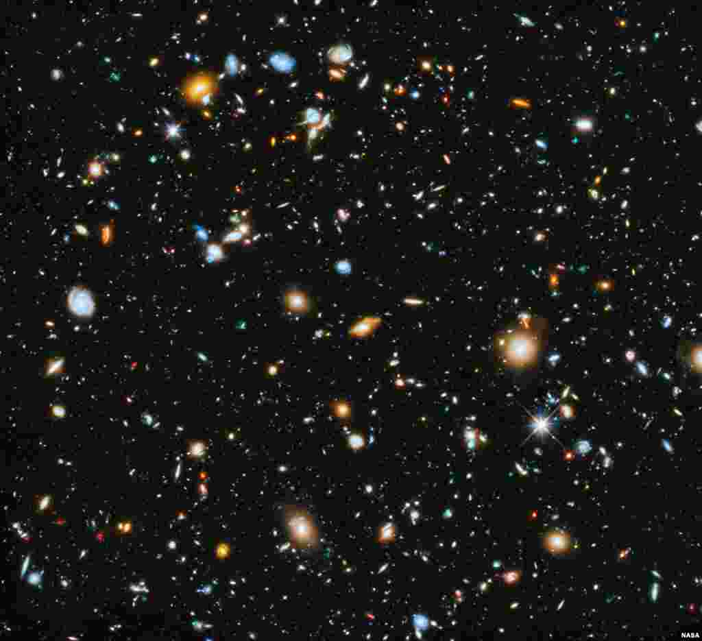 Astronomers using NASA's Hubble Space Telescope assemble a comprehensive picture of the evolving universe – among the most colorful deep space images ever captured by the 24-year-old telescope. Researchers say the image, in new study called the Ultraviolet Coverage of the Hubble Ultra Deep Field, provides the missing link in star formation.