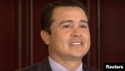 Tony Hernández, el hermano del presidente de Honduras, durante una conferencia de prensa en Tegucigalpa en noviembre del 2017.