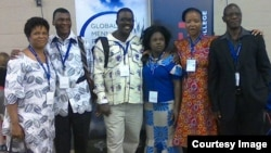 Pastor Hlanganani Dube (third from left) of Bulawayo and other delegates from Zimbabwe.