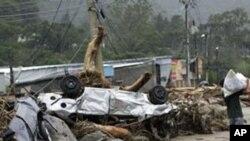 홍수로 파괴된 브라질 고속도로