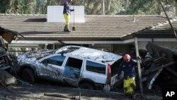 Uništeni domovi u Montesitu, u Kaliforniji