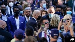 9/11 ေအာက္ေမ့ဖြယ္အခမ္းတက္ေရာက္ဖို႔ ေရာက္ရွိိလာတဲ့ သမၼတ Joe Biden. (စက္တင္ဘာ ၁၁၊ ၂၀၂၁)