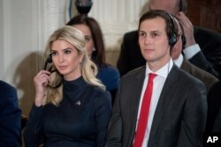 FILE - Ivanka Trump, the daughter of President Donald Trump, and President Donald Trump's White House Senior Advisor Jared Kushner