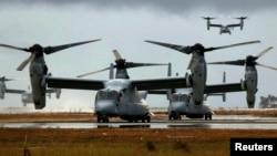 미군의 수직이착륙기 오스프리 (자료사진)