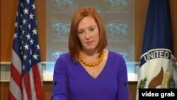 ABŞ Dövlət Departamentinin sözçüsü Cen Psaki