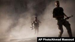 Pertempuran di Aleppo, Suriah, 7 September. (Foto: AP)