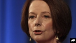 Australian Prime Minister Julia Gillard, Aug. 7, 2012 file photo.