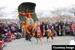 Reog Singo Lodoyo pentas pada Festival Bunga Sakura (Cherry Blosson Festival) di Washington DC (foto: courtesy).