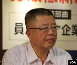前中华民国全国总工会理事长陈杰(美国之音杨明拍摄)