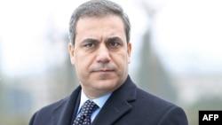 FILE - A picture taken on Dec. 19, 2014 shows the head of Turkey's intelligence agency Hakan Fidan in Ankara.