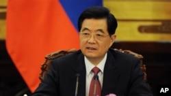 前中國國家主席胡錦濤2012年6月5日在北京