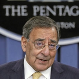 US Secretary of Defense Leon Panetta at the Pentagon, in Arlington, Virginia, January 5, 2012 (file photo).