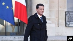 FILE - French Prime Minister Manuel Valls.