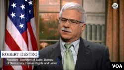 United States Assistant Secretary of State for Democracy, Human Rights and Labor, Robert Destro.