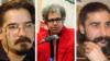 Iranian writers, Reza Khandan, Baktash Abtin, and Keyvan Bajan