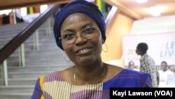 Mimi Bossou-soedjede, directrice de la maison TV5 Monde, Lomé, le 6 novembre 2019. (VOA/Kayi Lawson)