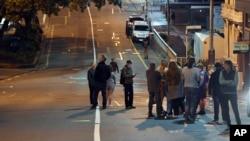 Des habitants évacués après un séisme près de Wellington le 14 novembre 2016.