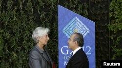 Lagarde ha agradecido a Calderón su ayuda como anfitriónpara conseguir $ 456 mil millones para su organismo.