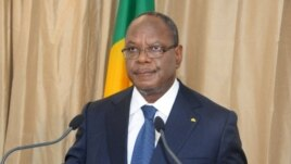 Mali President Ibrahim Boubacar Keita delivers a speech on Oct. 2, 2013. in Bamako.