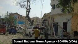 Así quedó el hotel Dayah en Somalia tras el ataque de Al Shabab el miércoles, 25 de enero, de 2017.