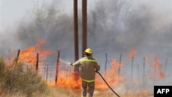 Пожар в Западном Техасе. Форт-Дэвис.